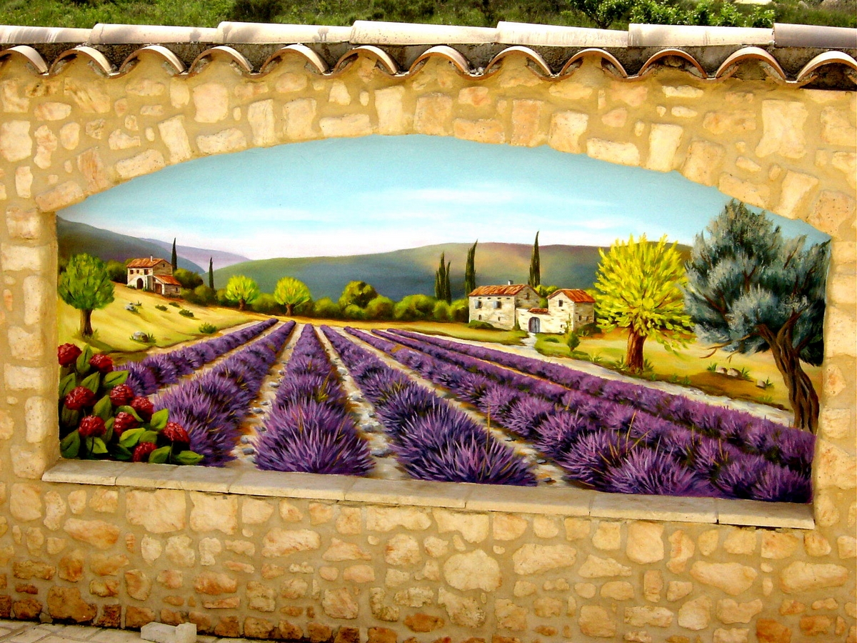 Jean Marc Fraisse Fresque Murale Peinture En Trompe L